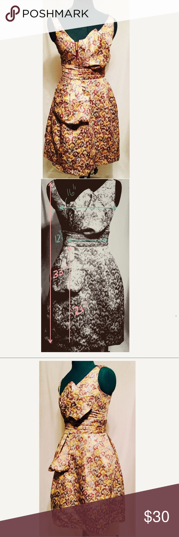 Zac Posen For Target Gold Formal Dress Size 1 Xs Gold Formal Dress Formal Dresses Dresses [ 1740 x 580 Pixel ]