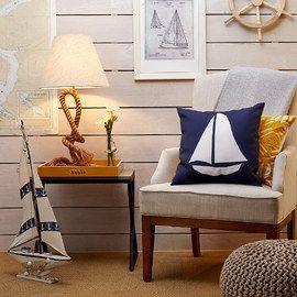 #navy and #yellow #nautical #decor