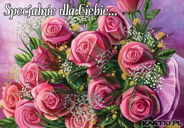 Specjalnie Dla Ciebie Kartki Pl Floral Wreath Birthday Happy Birthday