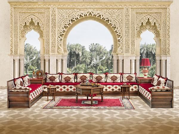 Traditional Arabic Sitting Room Moroccan Living Room Arabic