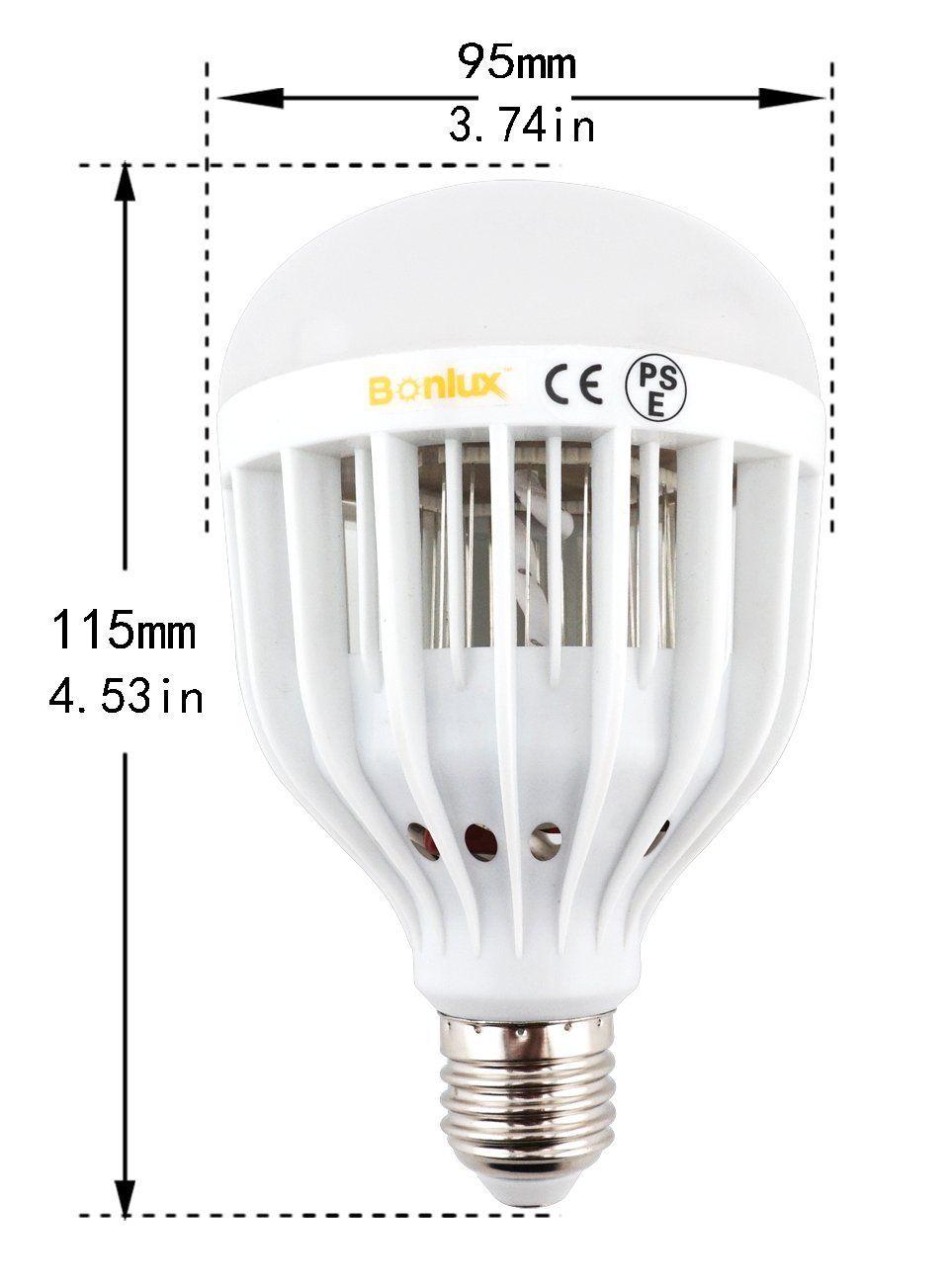 Amazon Com Bonlux Led Bug Zapper Light Bulb Medium Screw E26