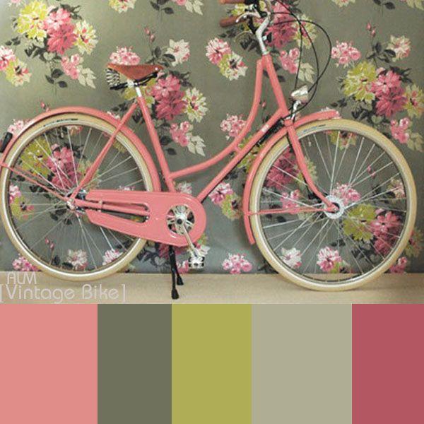 Vintage Bike Colors Pink Bicycle Pink Bike Bicycle