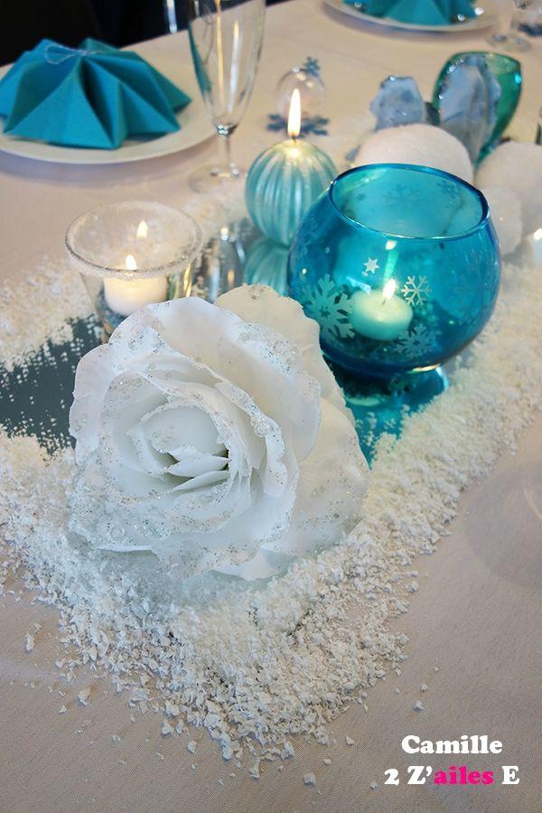 deco centre table reine neiges miroir bougies. Black Bedroom Furniture Sets. Home Design Ideas