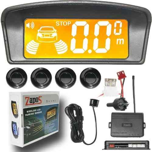 Sensor De Estacionamento Ré Display Lcd Wirelles 4 Pontos - R$ 139,99