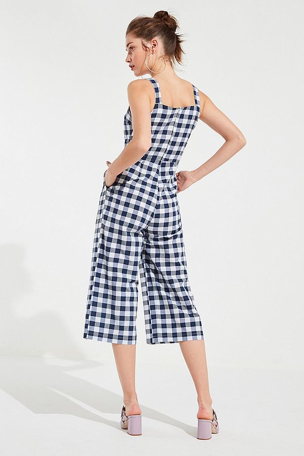 0a98e25043 Slide View  2  Love + Harmony Gingham Culotte Jumpsuit