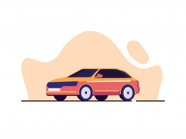 Modern Car Illustration In Flat Style | Car illustration, Flat illustration, Illustration