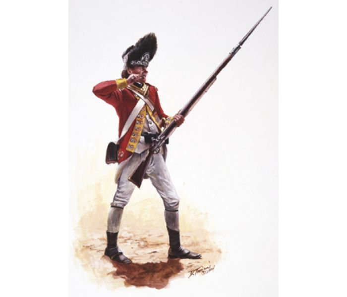 British Grenadier of the 38th Regiment of Foot 1775