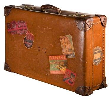 Antique World Print Travel Bag Vintage Retro Luggage