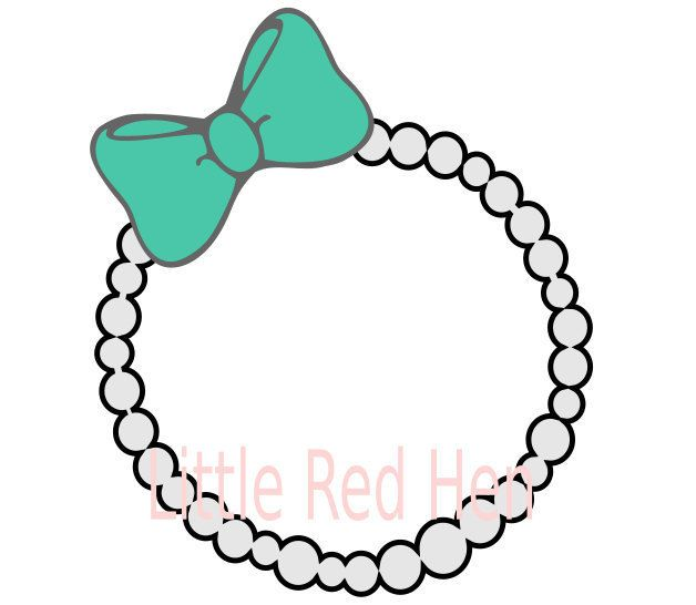 Pearl Necklace With Bow Monogram Frame Svg Cricut Monogram Monogram Frame Cricut Projects Vinyl