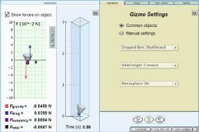 Screenshot Of Free Fall Laboratory Gizmo Lesson Free Falling Gizmo