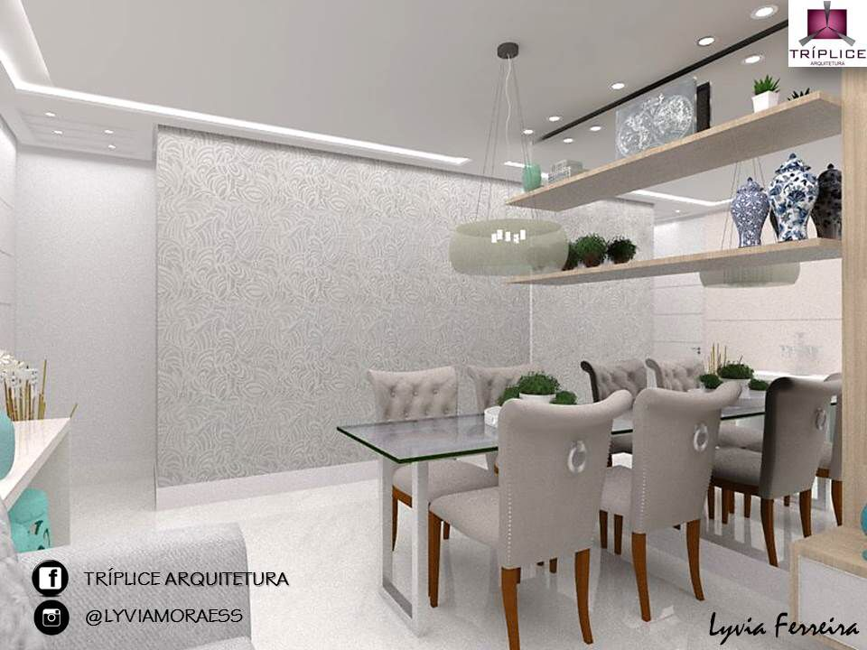 Sala de estar e jantar - Lyvia Ferreira interiores