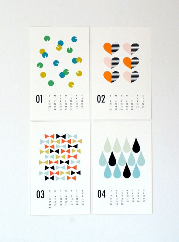 2013 Wall Calendar by Dozi on Etsy