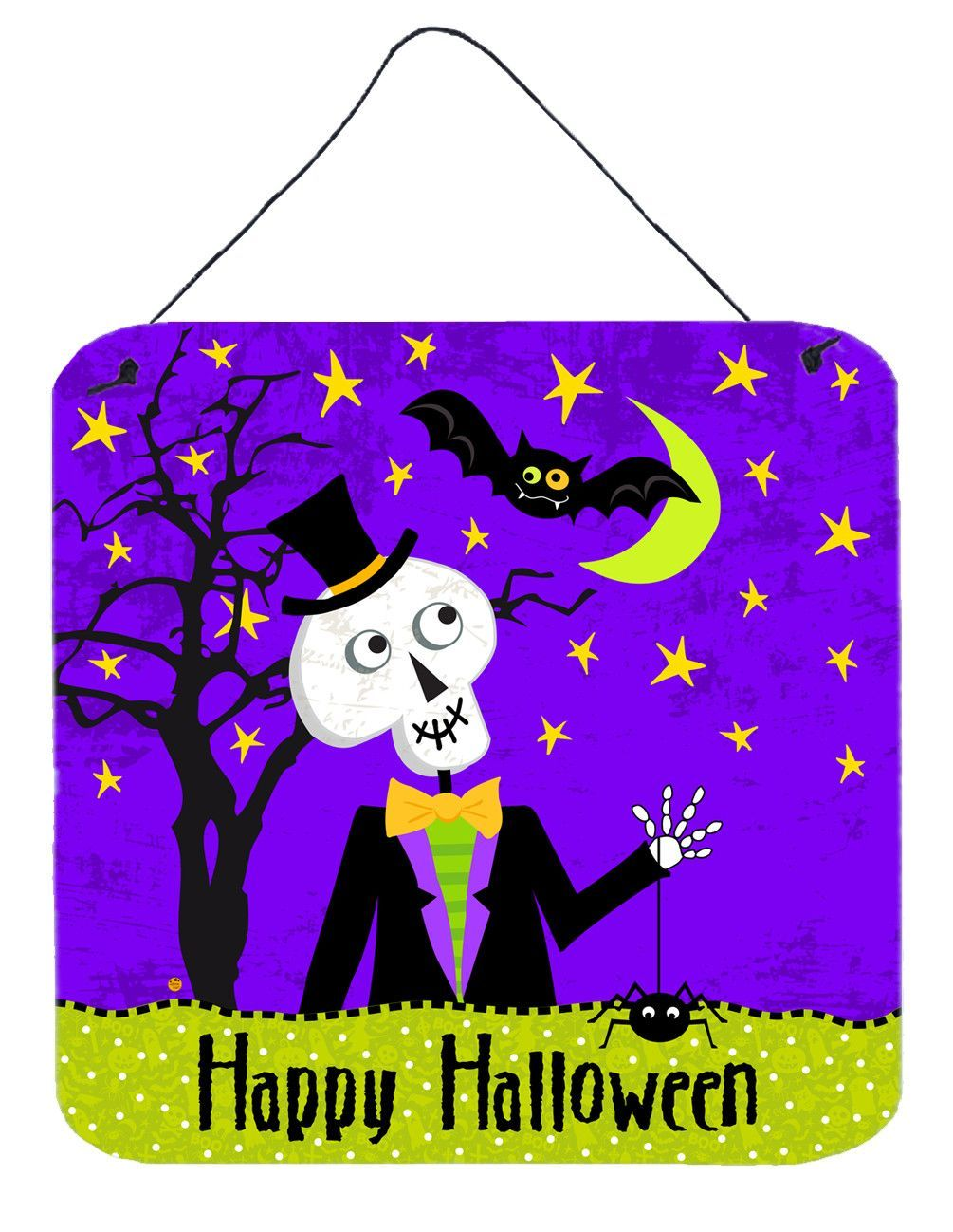 Happy halloween skeleton wall or door hanging prints vhads