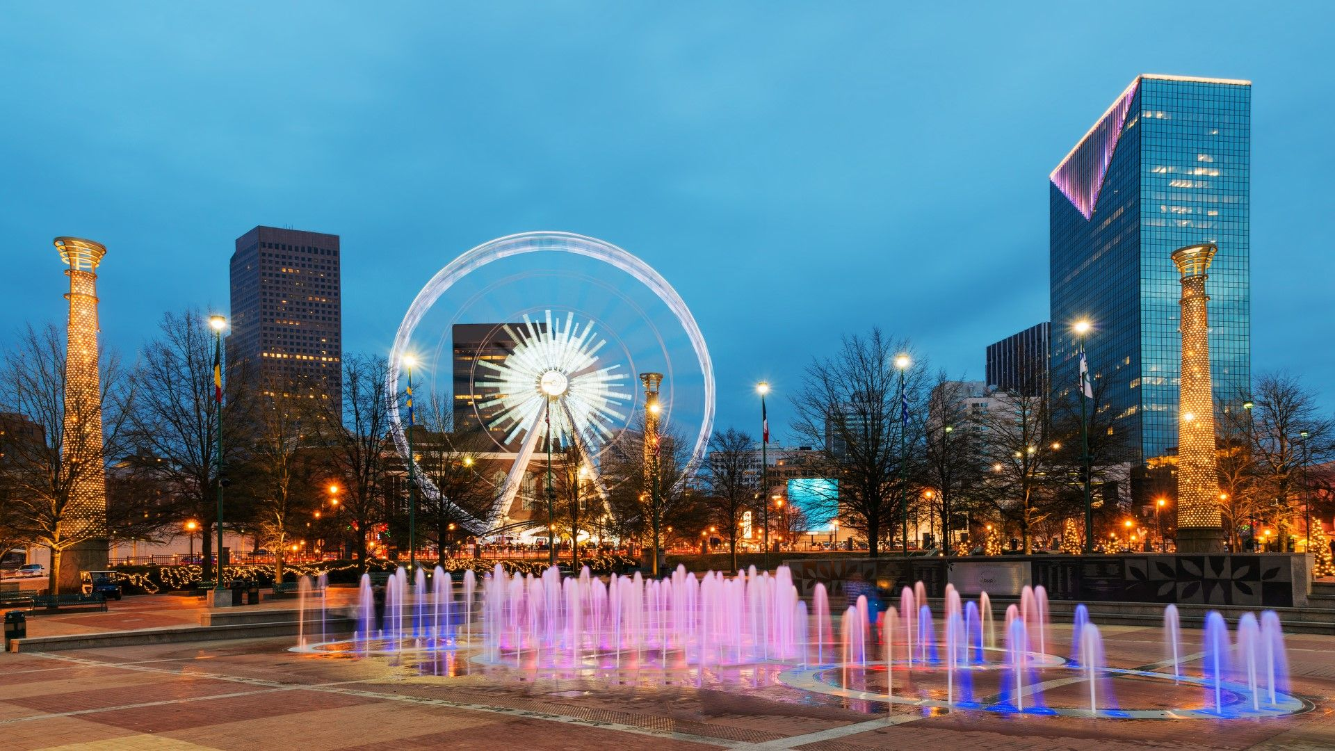 Explore the Centennial Olympic Park when you travel to