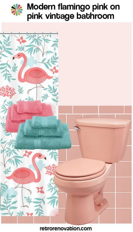 13 Ideas To Decorate An All Pink Tile Bathroom Pink Bathroom Tiles Flamingo Bathroom Decor Pink Bathroom