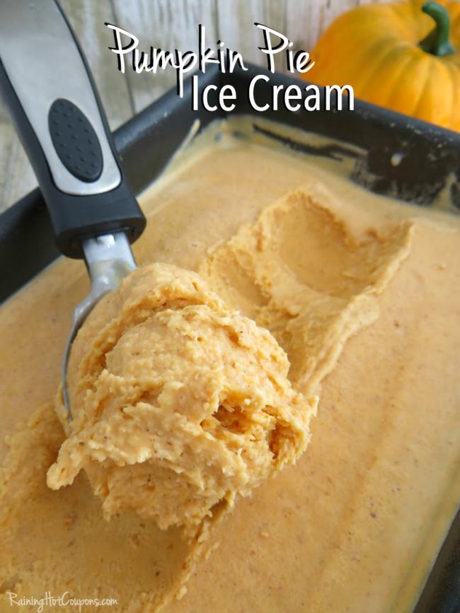 Pumpkin Pie Ice Cream No Churn Recipe Pumpkin Pie Ice Cream Ice Cream Recipes