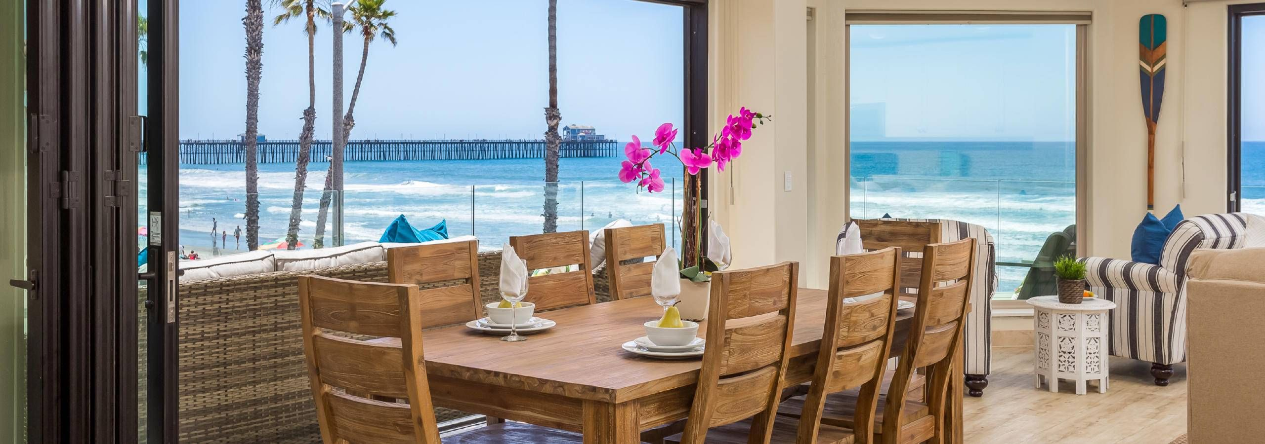 Beachfront only vacation rentals california beach house