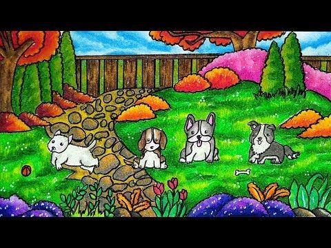 Cara Menggambar Dan Mewarnai Anjing Lucu Gradasi Warna Oil Pastel Youtube Hewan Cara Menggambar Seni Hewan