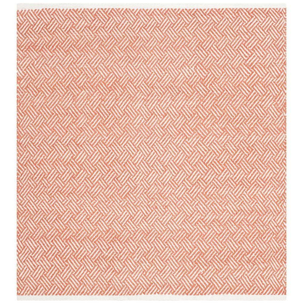 Boston Orange 4 Ft X Square Area Rug