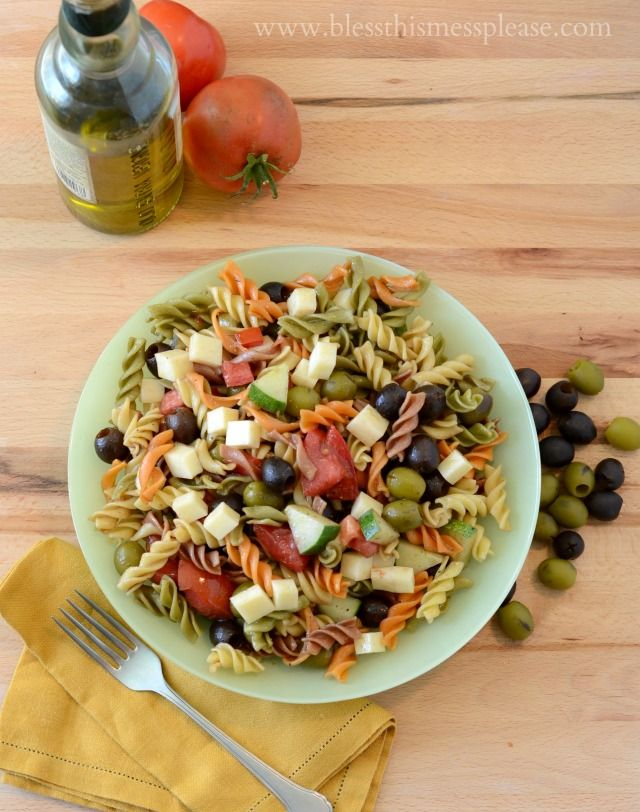 Pasta Salad For A Party Recipe Pasta Salad Pasta And
