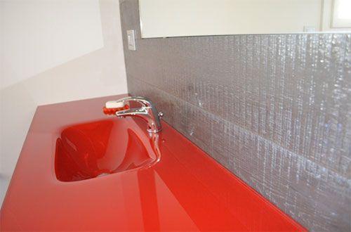Rivestimento a parete in bagno con legno rovere gobi alma