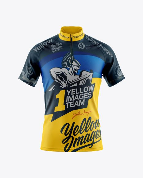 Download Men's Cycling Jersey Mockup - Front View in Apparel ...
