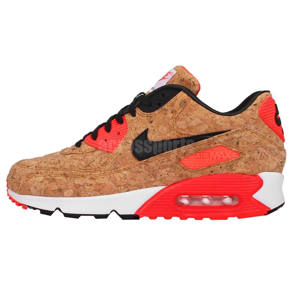 Nike Air Max 90 Anniversary Cork Infrared Mens Running Shoes NSW ...