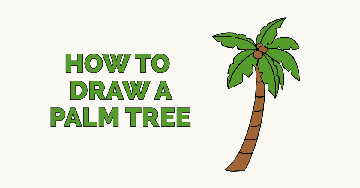 How To Draw A Palm Tree Really Easy Drawing Tutorial In 2021 Drawing Tutorial Easy Palm Tree Drawing Drawing Tutorial