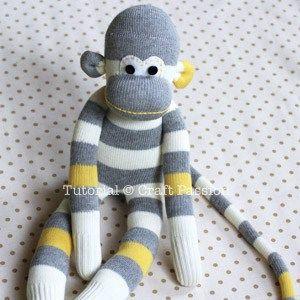 Sock Monkey Sewing Pattern - Free Pattern & Tutorial | Craft Passion
