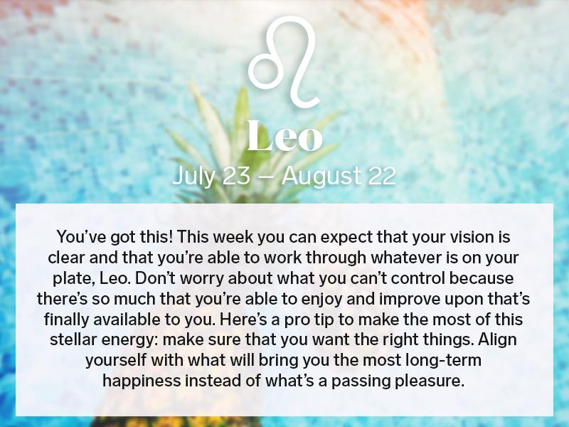 leo weekly horoscope this week