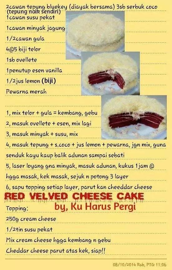 Red Velvet Cheese Cake Steamed Cake Cake Recipes Cake Recepies