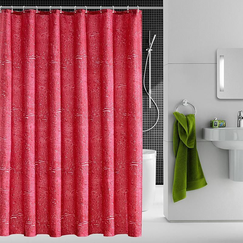 High Grade New Product Household Products Red Water Drop Shower Curtain Waterproof And Anti Mildew Bathroom Curtain With Images Bathroom Curtains Shower Curtain Curtains