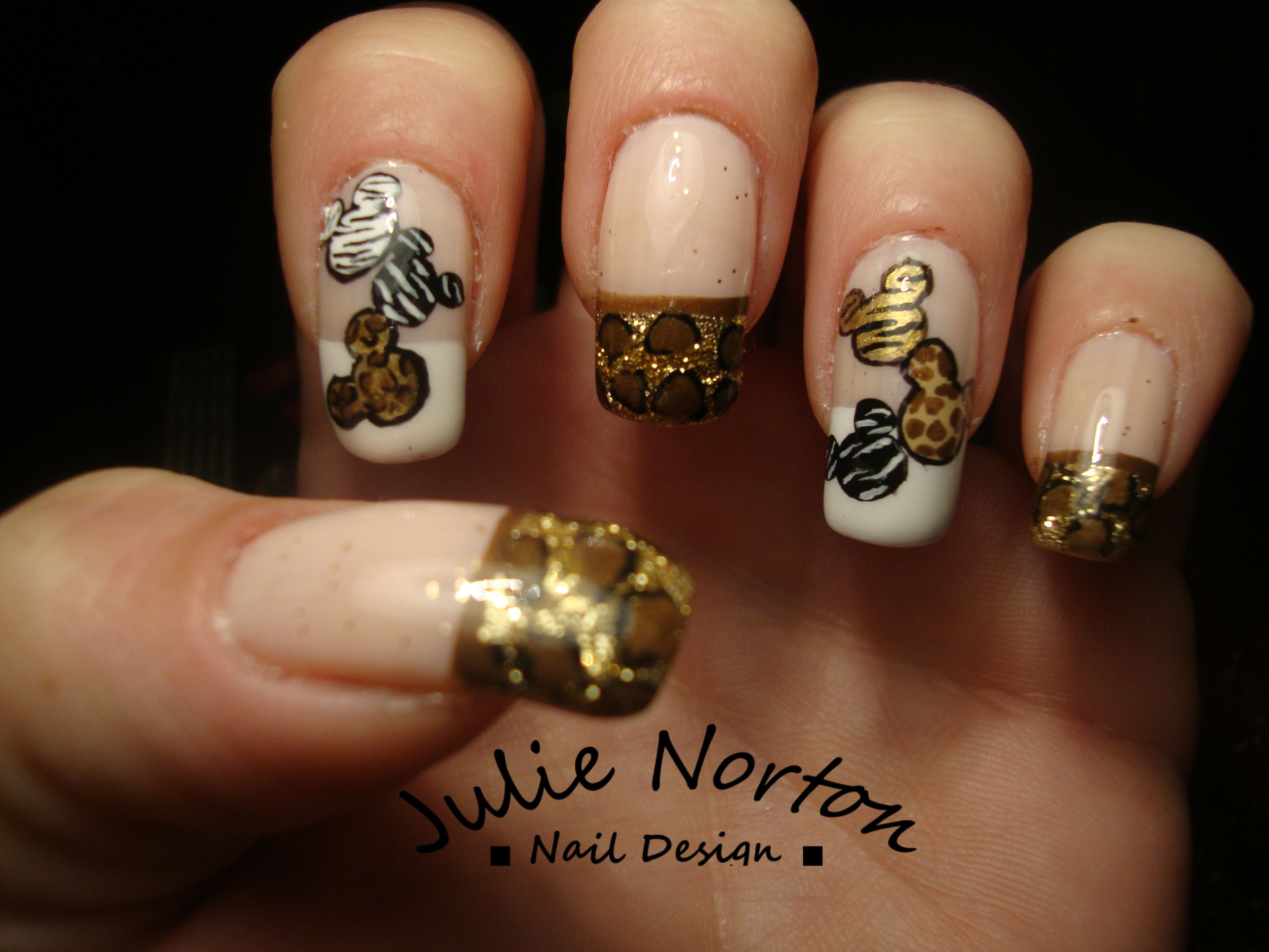 Safari Mickey Mouse Nails | Some of my Nail Art | Pinterest