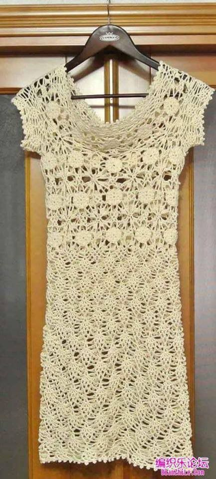 Tutorial Vestido Dama Crochet Tejido | vestidos | Pinterest ...