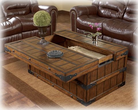 Shepherdsville Coffee Table Set Chest Coffee Table Wood Coffee Table Rustic Coffee Table Trunk Rustic living room table sets