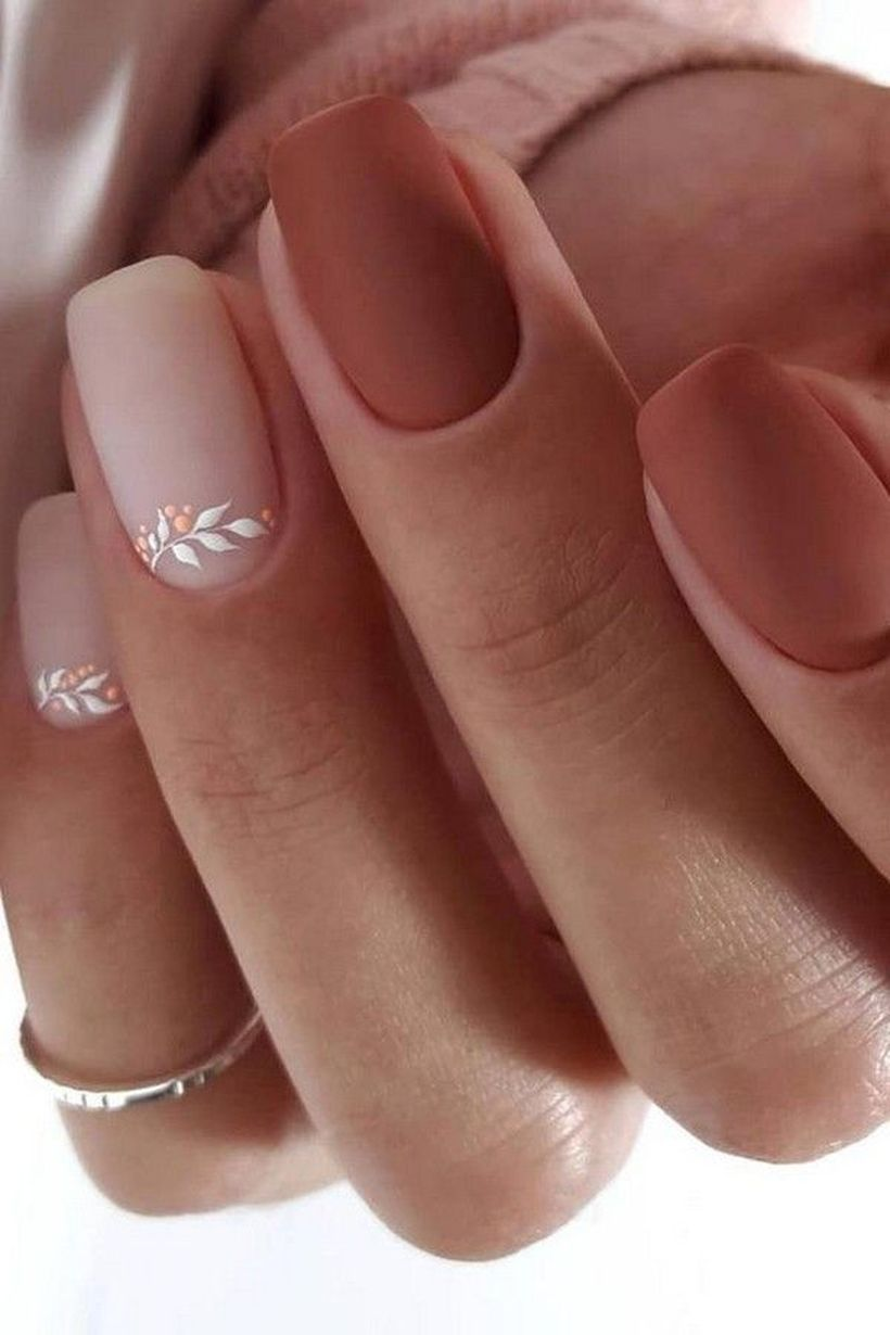 30 Perfect Ways To Beautify Your Appearance With Fall Nail Design Solid Color Nails Short Acrylic Nails Nails