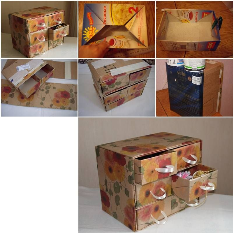 How to make cardboard chest with storage container units step by how to make cardboard chest with storage container units step by step diy tutorial instructions how to how to do diy instructions crafts do it yourself solutioingenieria Images