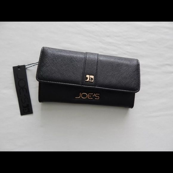 """Selling this """"Joe's Jeans black faux leather salute snap wallet"""" in my Poshmark closet! My username is: crazyposh. #shopmycloset #poshmark #fashion #shopping #style #forsale #Joe's Jeans #Clutches & Wallets"""