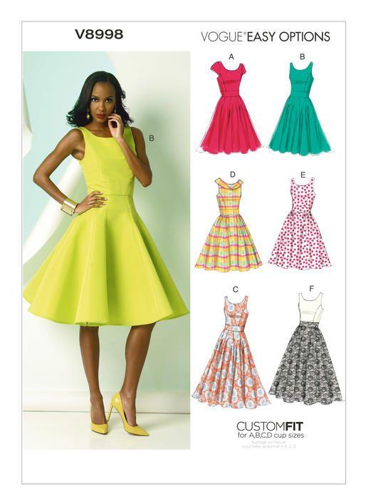 V8998 | Vogue Patterns Silk Faille, broaadcloth, pique, saaatin ...