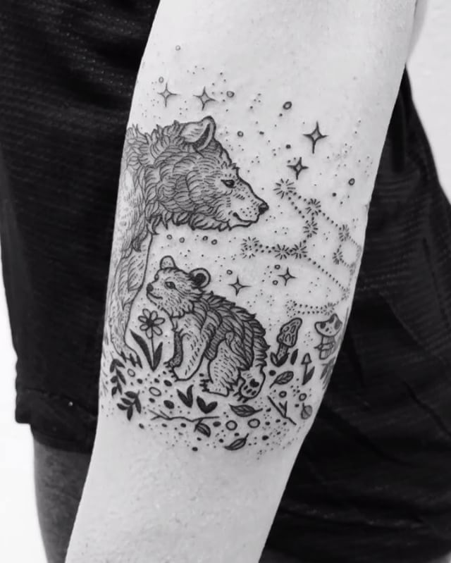 Bear Tattoo With Cub: 14.9k Likes, 233 Comments