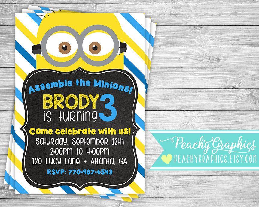 Printable Minion Invitation Minions Movie Birthday Party Invite