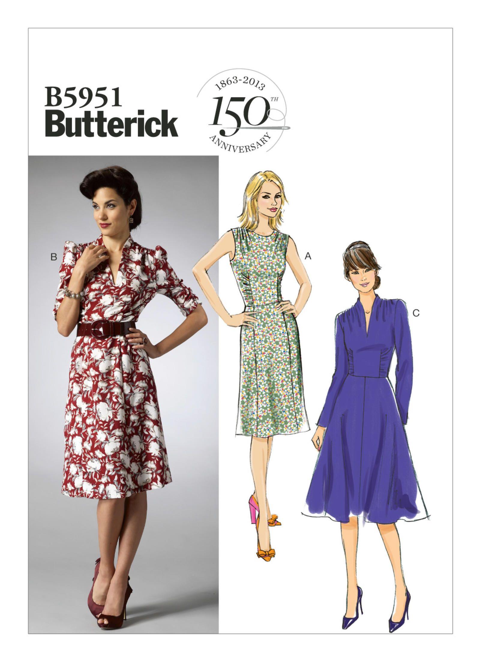 B5951 | Butterick Patterns | Vintage dresses | Pinterest | Vestidos ...