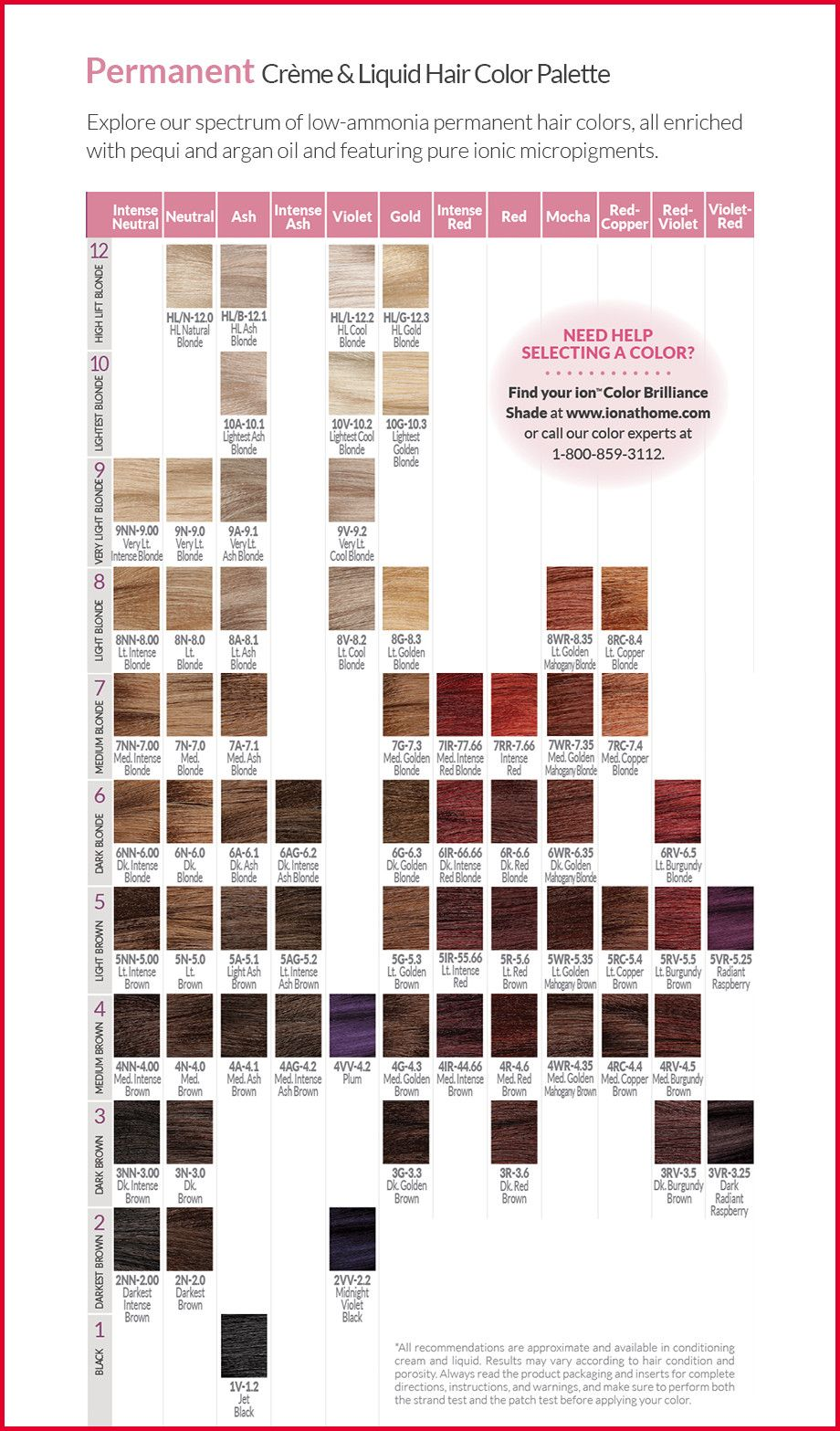 Ion Color Brilliance Brights Color Chart Ion Color Brilliance Brights Ion Color Brilliance Hair Color Swatches