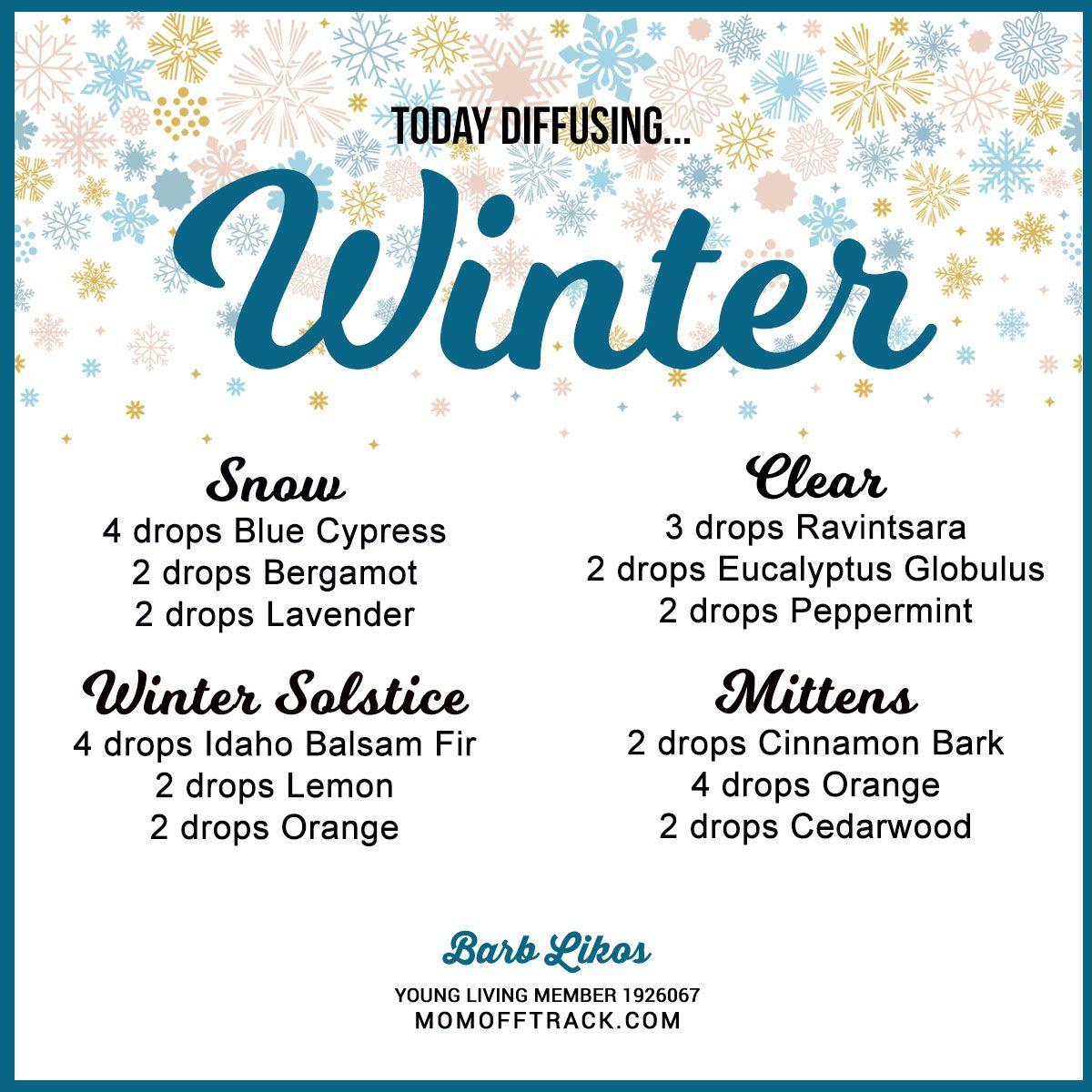 Winter Essential Oil Diffuser Recipes