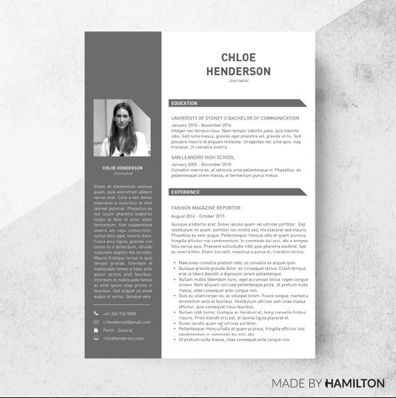 Resume Template, 3page CV Template + Bonus Cover Letter MS   How To Make A  How To Make A Resume On A Mac
