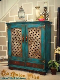 Repainted Furniture teal furniture - google search | new house decor | pinterest