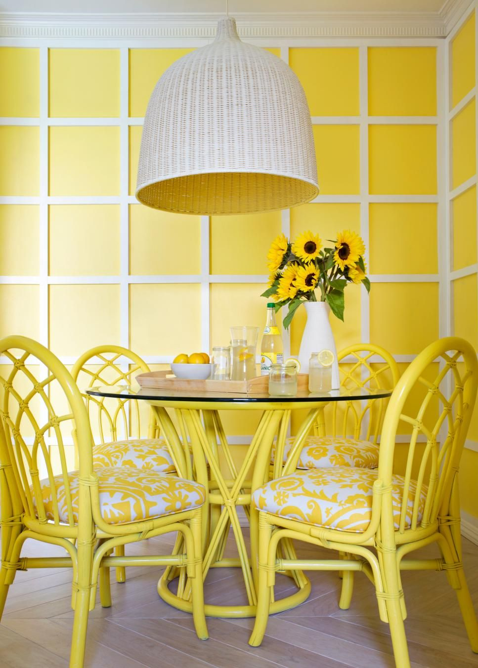Hgtv S Picks The Hottest Color Right Now Color Palette And Schemes For Rooms In Your Home Hgtv Yellow Dining Room White Dining Room Dining Room Design