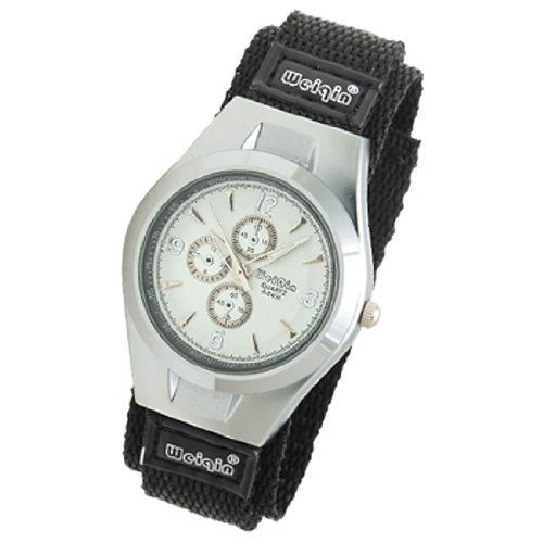 Como Dual Black Nylon Band White Dial Sports Men Quartz Wrist Watch by Como. $10.24. Size of the Men's Quartz Watch band: 24.3cm in length, 2.6cm in width. Dimension of the watch case: 4.9 x 3.7 x 1cm. Double production: buckle and velcro for firmly to close and easy to pick up when unused. Easy to read time by the special pattern in the white dial and also keeps precision time. Weight: 51.1g. Description:Newly and special design of this style Dual Band Nylon Watch.Dual ba...