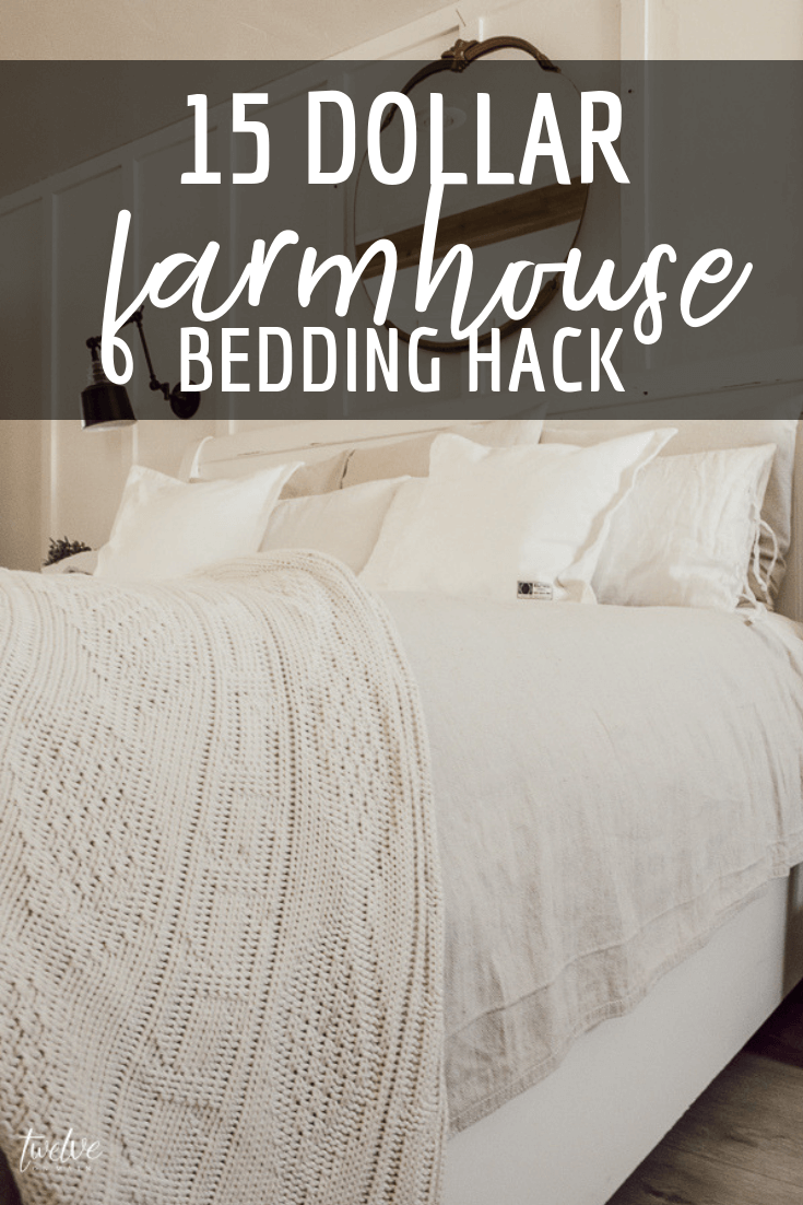 Give your bed a makeover with this 15 dollar farmhouse style bedding hack It totally transformed my bed