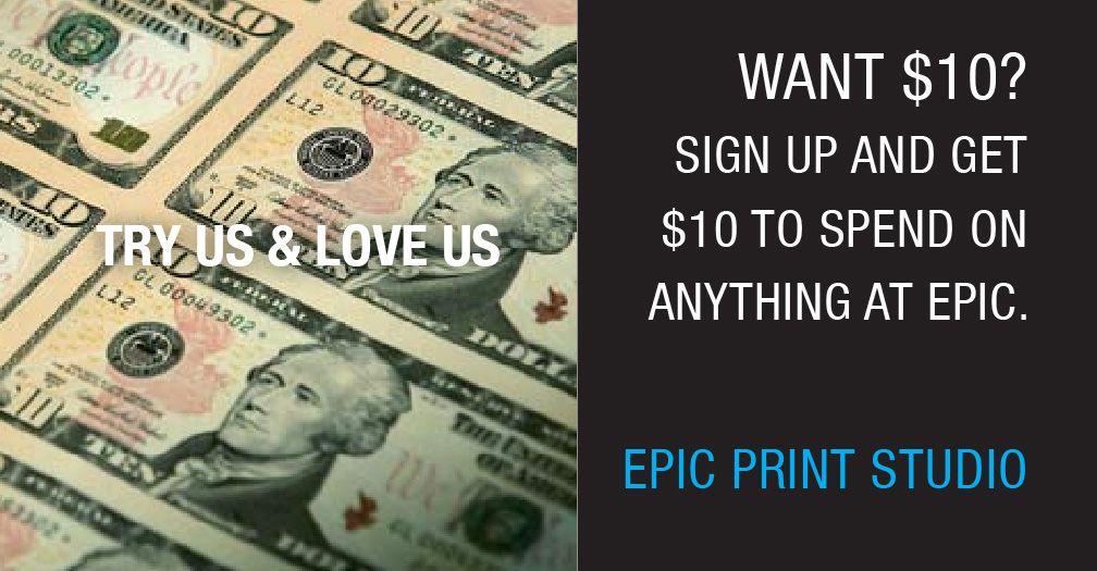 Take this digital, crisp ten dollar bill and buy yourself something ...